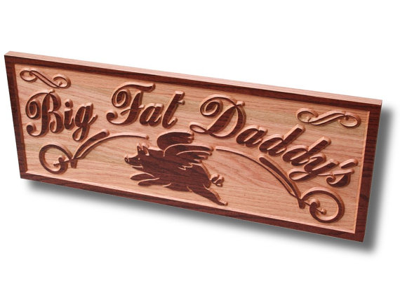 Oak Wood Signs ~ Business sign carved wooden personalized