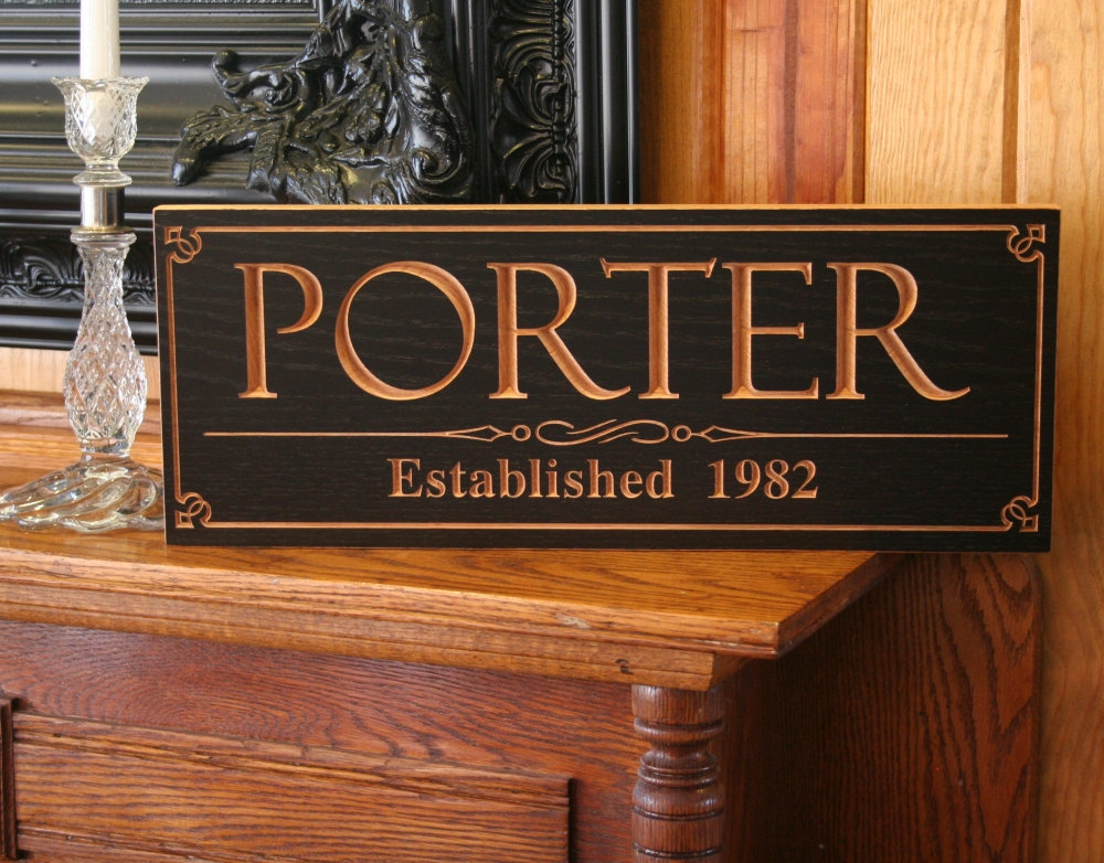 Engraved Man Cave Signs : Custom wedding gift wood sign marriage name